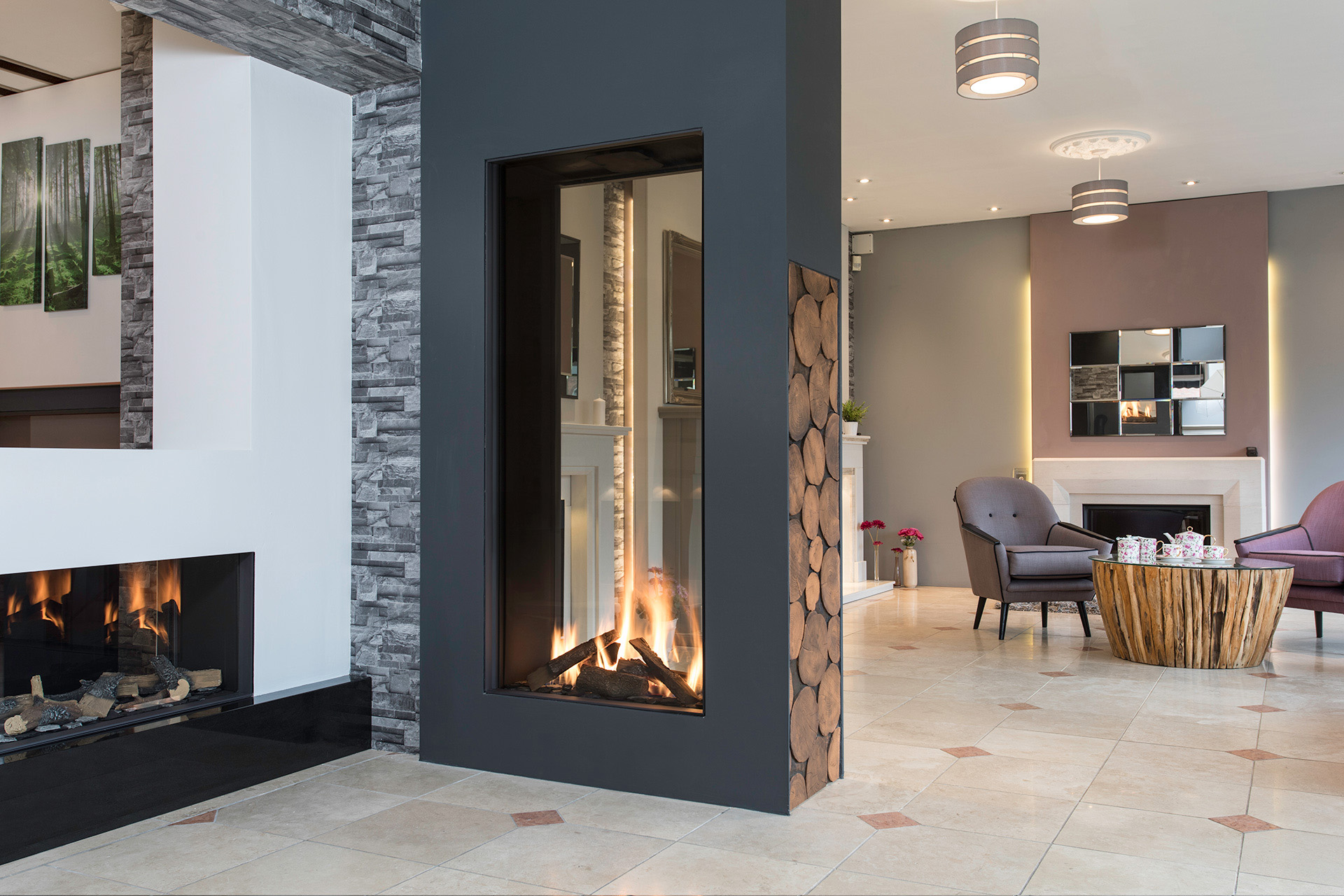 Double Sided Fires & Tunnel Fireplaces   The Fireplace Studio
